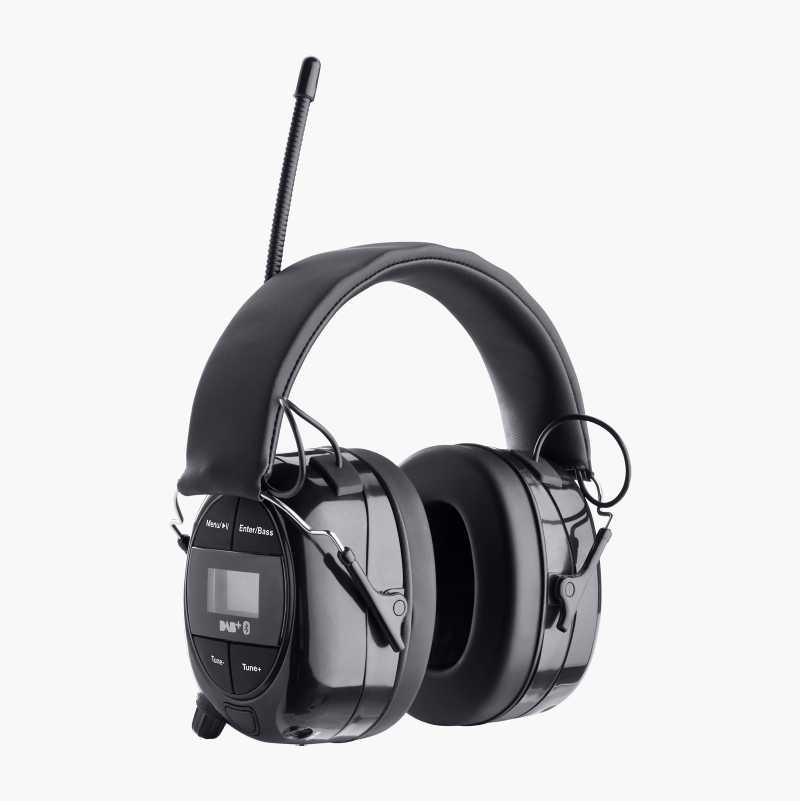 Høreværn med Bluetooth/FM/DAB+radio/AUX