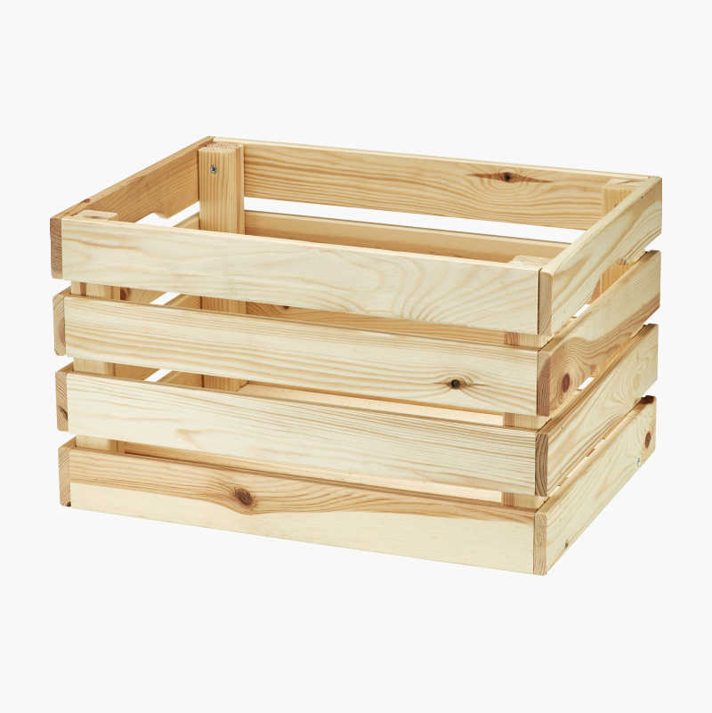 Storage box in wood