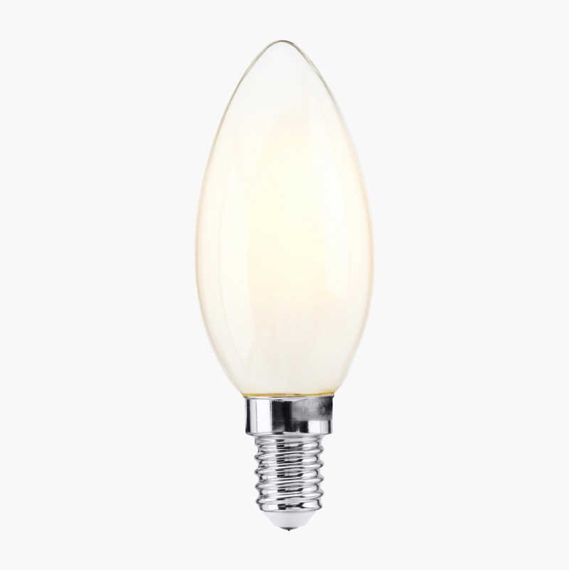 Candle Bulb E14, frosted, 3-pack
