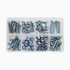 Screw and nut set, 125 parts