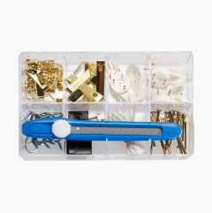 Picture hanger kit, 108 parts