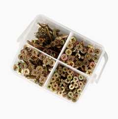 Wood Screws, 185 pcs.