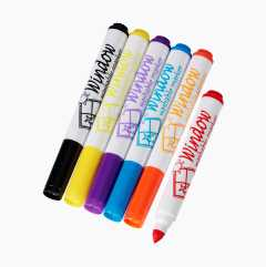 Window Markers, 6-pack