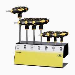 Torxnøgler med T-håndtag, 7 stk.