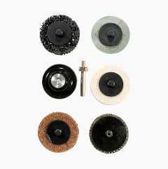 Sanding disc set, 7 parts