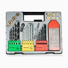 Drill and bits set, 42 parts