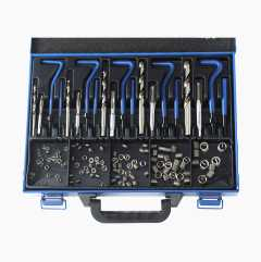 Screw thread repair kit (mm), 21 parts with 110 adapters