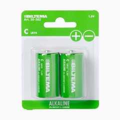 C/LR14 Alkaline Batteries, 2-pack
