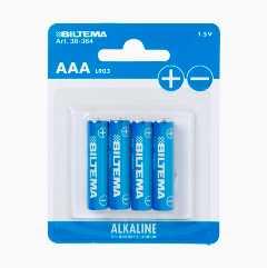 AAA/LR03 Alkaliskt batteri, 4-pack