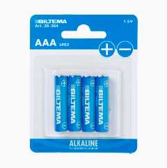AAA/LR03 Alkaline Batteries, 4-pack