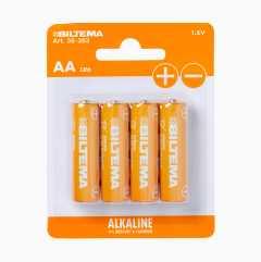 AA/LR6 Alkalist batteri, 4-pack