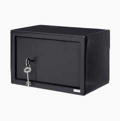 Safety box with key locking