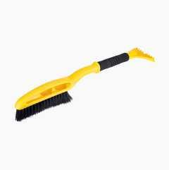Snøbørste med isskrape