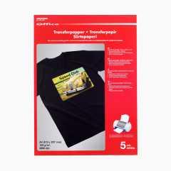 Transferpapir for mørkt bomullsstoff
