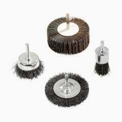 Rotary brush kit, 4 parts