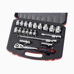 """Socket spanner set 1/2"""", 20 parts"""