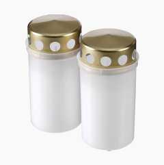 Grave lanterns, 2-pack.