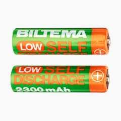 Oppladbare batterier – Low Self Discharge, 2 stk.