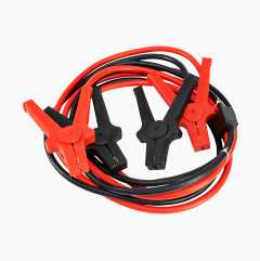 Jump leads with electronic guard