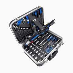 Työkalulaukku työkaluineen, 132 osaa