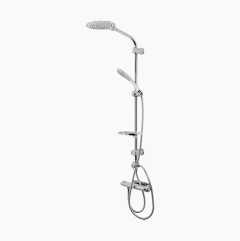 Shower set duo, white/chrome
