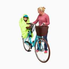 Rain poncho for child bicycle seat