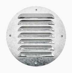 Ventilation grille, shoulder connection, round