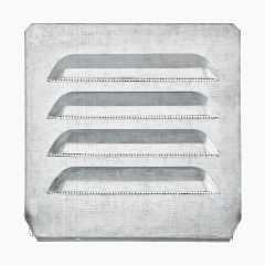 Ventilationsgitter, indfældet, kvadratisk