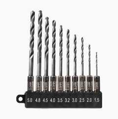 HSS Drill Bits, 10 bits