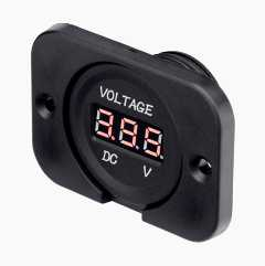 Voltmeter for installation