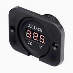 Voltmeter for installation
