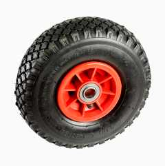 Pneumatic rubber wheels
