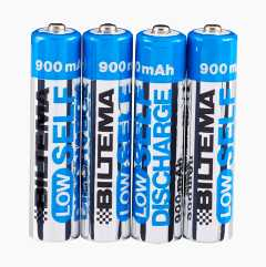 AAA Rechargeable Batteries, 4-pack