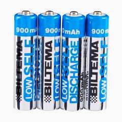 AAA laddningsbart batteri, 4-pack