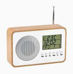 Kelloradio lämpömittarilla